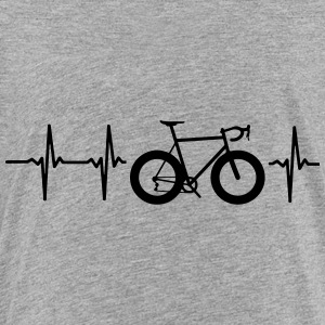I LOVE MY BICYCLE! MY HEART BEATS FOR MY BIKE! Kids' Shirts - Toddler Premium T-Shirt