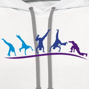 animation capoeira group 1 T-Shirts - Contrast Hoodie
