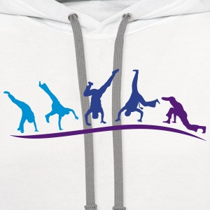 animation capoeira group 1 Kids' Shirts - Contrast Hoodie