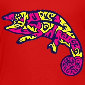 mexican style tribal chameleon 1 Kids' Shirts - Toddler Premium T-Shirt