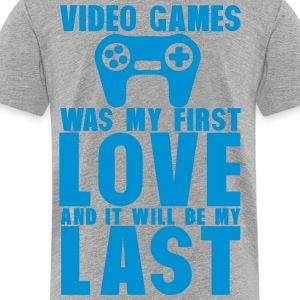 video games was my first love last manet Kids' Shirts - Toddler Premium T-Shirt