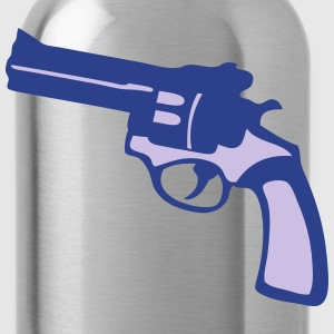 weapon revolver gun 9113 T-Shirts - Water Bottle
