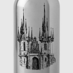 Church hand drawing art T-Shirts - Water Bottle