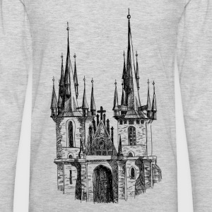 Church hand drawing art T-Shirts - Men's Premium Long Sleeve T-Shirt