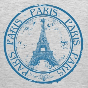 Paris travel stamp T-Shirts - Men's Premium Tank