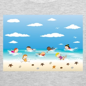 Children and beach summer background T-Shirts - Men's Premium Tank