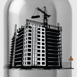 Construction building art T-Shirts - Water Bottle