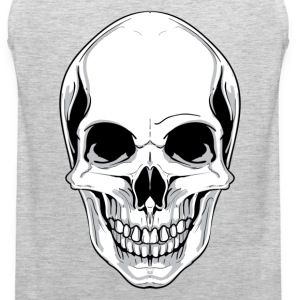 Skull front view design T-Shirts - Men's Premium Tank