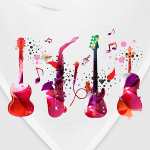 Stylish colorful music guitar background T-Shirts - Bandana