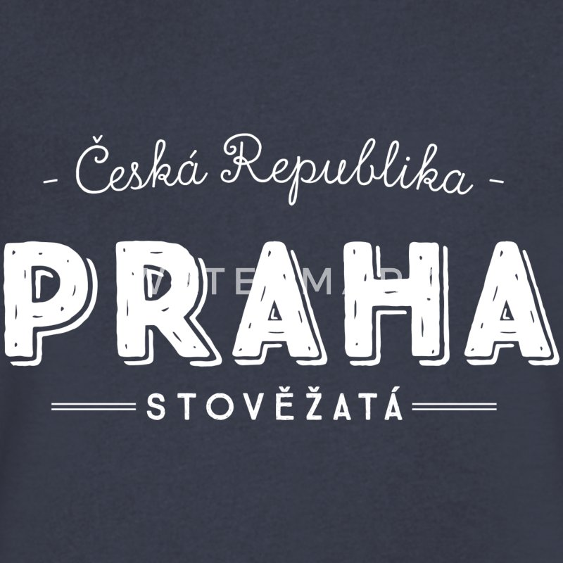 Prague T-Shirts - Men's V-Neck T-Shirt by Canvas