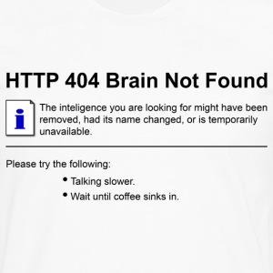 404 Brain Not Found  T-Shirts - Men's Premium Long Sleeve T-Shirt