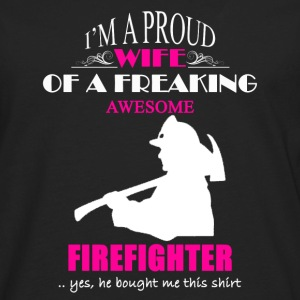 Firefighter Wife Shirt - Men's Premium Long Sleeve T-Shirt