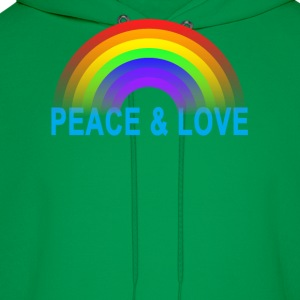 lgbt_peace_and_love - Men's Hoodie