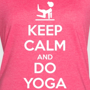 Keep Calm and do Yoga (dark) Tanks - Women's Vintage Sport T-Shirt