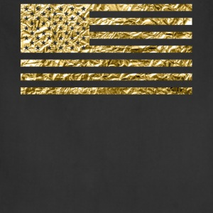 American Flag With Gold Foil - Adjustable Apron