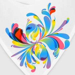 Abstract colorful flora - Bandana