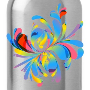 Abstract colorful flora - Water Bottle