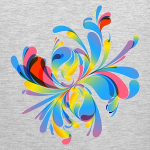 Abstract colorful flora - Men's Premium Tank