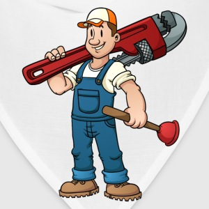 Funny plumber design elements - Bandana