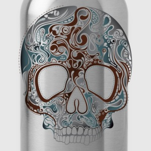 Trend pattern tropical skull design T-Shirts - Water Bottle