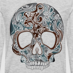 Trend pattern tropical skull design T-Shirts - Men's Premium Long Sleeve T-Shirt