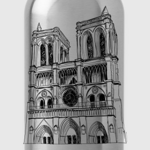 Clock tower church design T-Shirts - Water Bottle