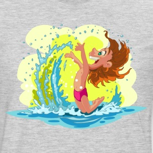 Children playing in beach waves T-Shirts - Men's Premium Long Sleeve T-Shirt