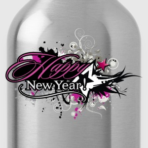 Happy new year trend decoration T-Shirts - Water Bottle