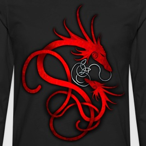 Red Norse Dragon - Men's Premium Long Sleeve T-Shirt