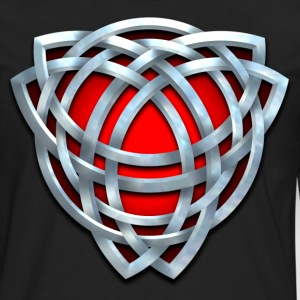 Red and Silver Celtic Triquetra - Men's Premium Long Sleeve T-Shirt
