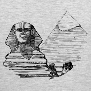 Egypt pyramid line art T-Shirts - Men's Premium Tank