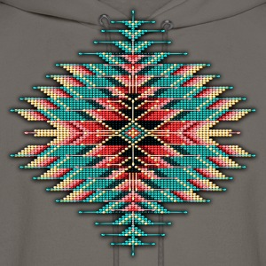 Native Beaded Sunburst 02 - Men's Hoodie