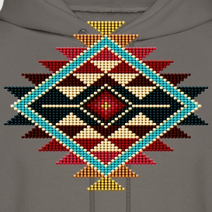 Native Beaded Sunburst 01 - Men's Hoodie