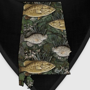 Alabama Bass, Crappie by Hookat T-Shirts - Bandana