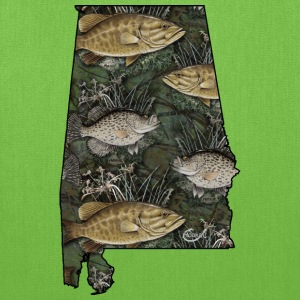 Alabama Bass, Crappie by Hookat T-Shirts - Tote Bag