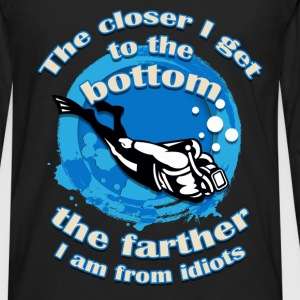 Scuba Diving - Farther - Men's Premium Long Sleeve T-Shirt
