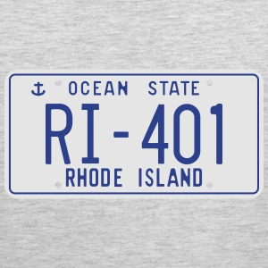 Retro Rhode Island License Plate T-Shirt - Men's Premium Tank
