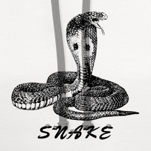 SNAKE SNAKE Women's T-Shirts - Contrast Hoodie