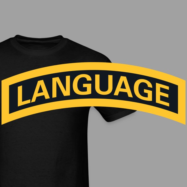 "Next Level ""Language"" Tab Tee"