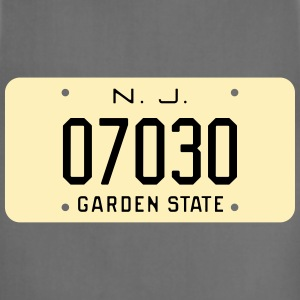 Retro Hoboken New Jersey License Plate T-Shirt - Adjustable Apron