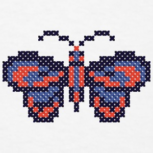 CROSS-STITCH butterfly Mugs & Drinkware - Men's T-Shirt