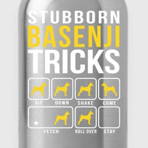 Stubborn Basenji Tricks T-Shirts - Water Bottle