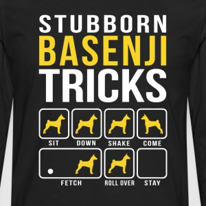 Stubborn Basenji Tricks T-Shirts - Men's Premium Long Sleeve T-Shirt