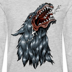 Snarling coyote or wolf mascot T-Shirts - Men's Premium Long Sleeve T-Shirt