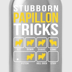 Stubborn Papillon Tricks T-Shirts - Water Bottle