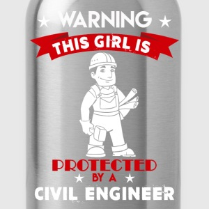 Protected By Civil Engineer - Water Bottle