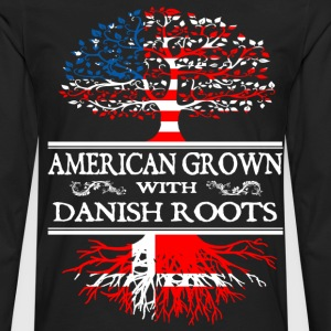 Denmark - american grown with danis T-Shirts - Men's Premium Long Sleeve T-Shirt