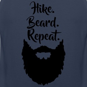 Hike.Beard.Repeat T-Shirts - Men's Premium Tank