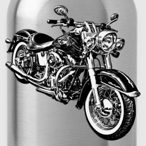 Motorcycle black and white graphics T-Shirts - Water Bottle