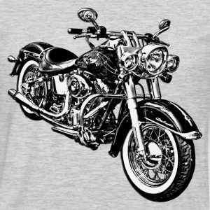 Motorcycle black and white graphics T-Shirts - Men's Premium Long Sleeve T-Shirt